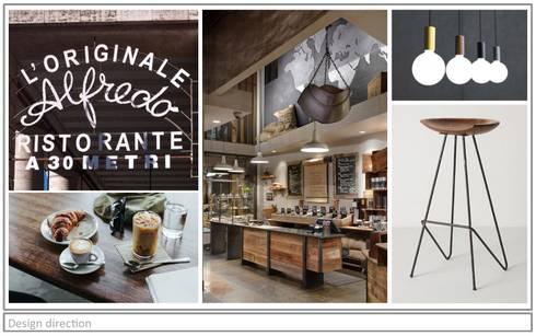 Artisan Cafe' - Mood Board.:  Bars & clubs by Premiere Design Studio