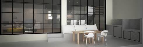 CASA DEL TREBOL: Terrazas de estilo  por santiago dussan architecture & Interior design