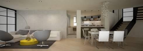 CASA DEL TREBOL: Salas de estilo moderno por santiago dussan architecture & Interior design