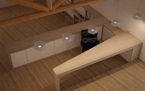 CASA VILLA DE LEYVA: Estudios y despachos de estilo ecléctico por santiago dussan architecture & Interior design