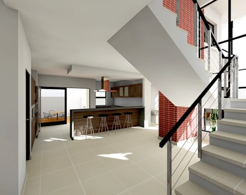 Flying Canopy House: modern Kitchen by Nzuza Architects