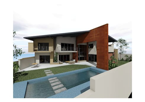 Flying Canopy House: modern Houses by Nzuza Architects