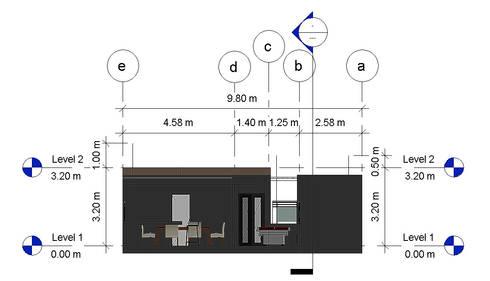 Seccion Transversal -Terraza CDMX: Terrazas de estilo  por Arqos Arquitectos
