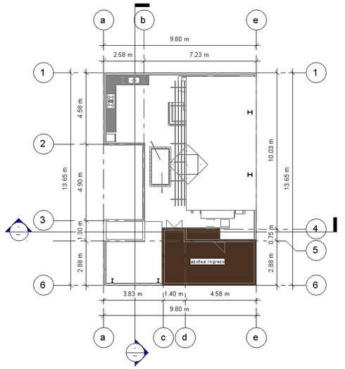 Planta Cubiertas -Terraza CDMX: Terrazas de estilo  por Arqos Arquitectos