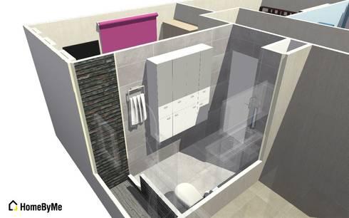 Vista 2 de modelo 3D baño cliente:  de estilo  por Mettox construcciones