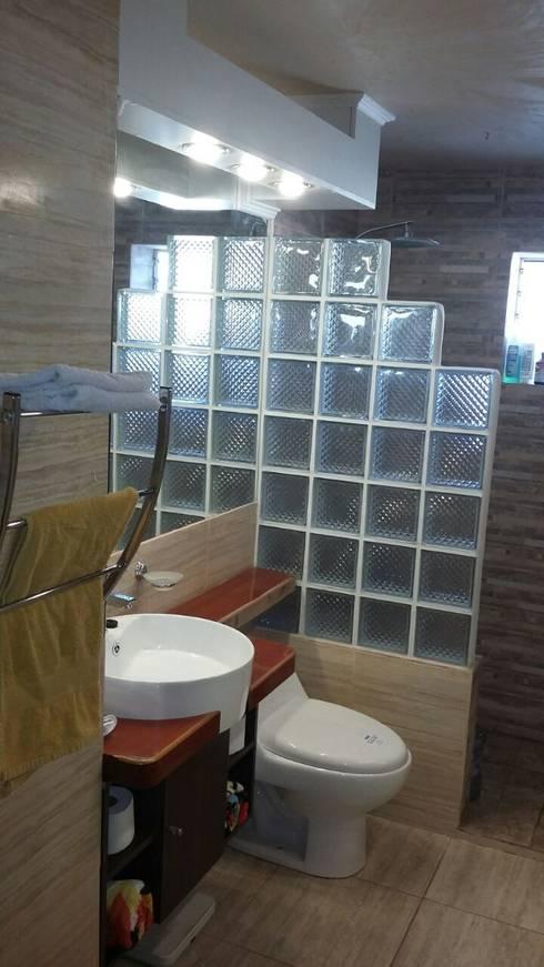 AVANCE PROYECTO BAÑO RUSTICO GLAM:  de estilo  por Mettox construcciones