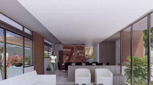 Área Social: Salas de estilo moderno por 75 Arquitectura