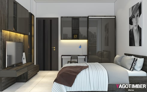 Bedroom Design - 1: modern Bedroom by Yagotimber.com