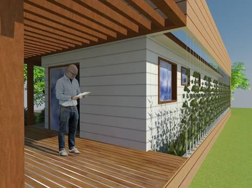 Terraza:  de estilo  por Arquitectura y Construcción Chinquel