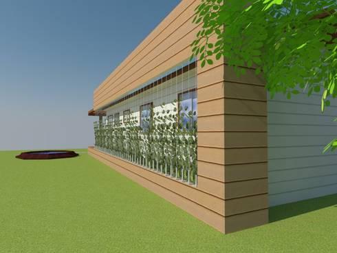Fachada Principal:  de estilo  por Arquitectura y Construcción Chinquel