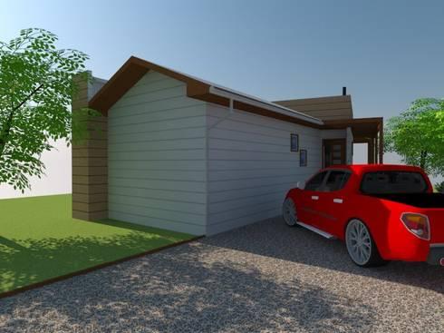Cabaña Sustentable:  de estilo  por Arquitectura y Construcción Chinquel