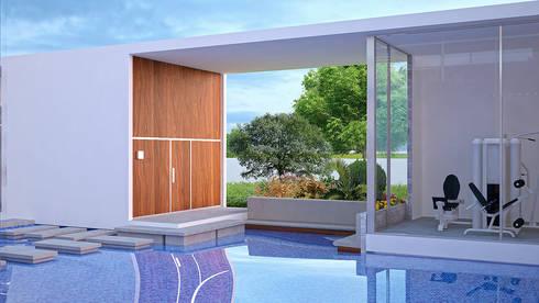 House Ali: modern Gym by STENA ARCHITECTS