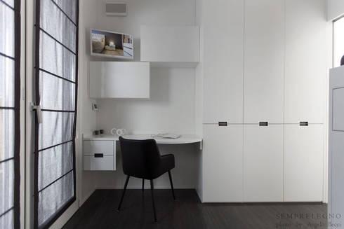 Interni di design loft moderno arredato su misura con mobili realizzati dalla falegnameria - Mobili per acquari su misura ...