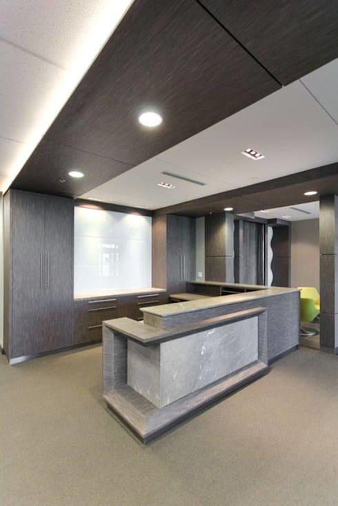 Dise o oficinas modernas de casas eco constructora homify for Disenos para oficinas modernas
