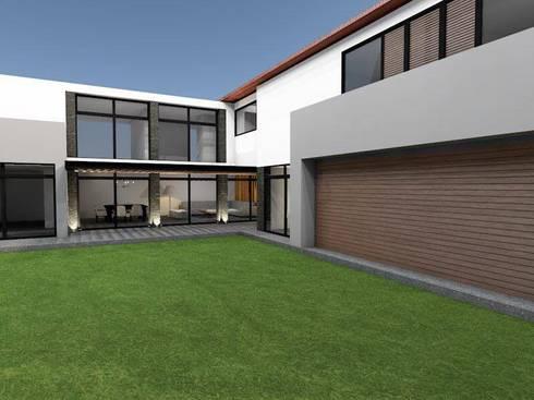 Dise o oficinas modernas de casas eco constructora homify for Diseno de oficinas modernas en casa
