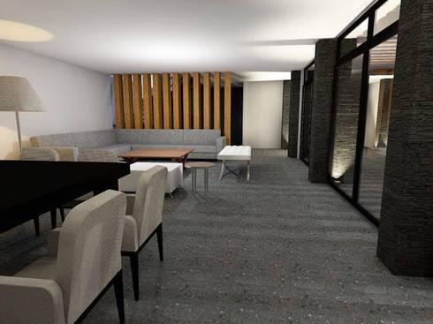 Dise o oficinas modernas de casas eco constructora homify for Diseno de interiores de oficinas modernas