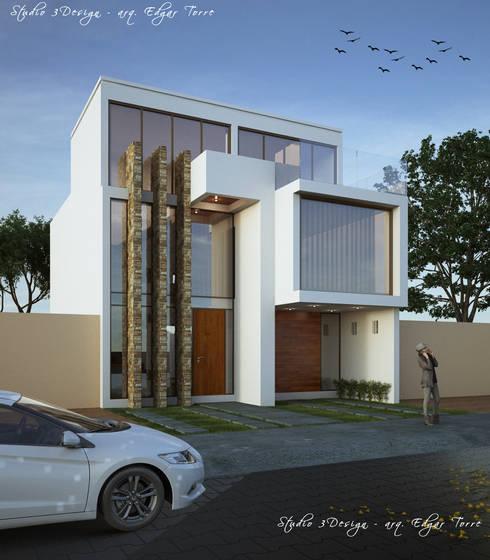 Casa Puerta de Asis: Casas de estilo minimalista por Studio 3Design