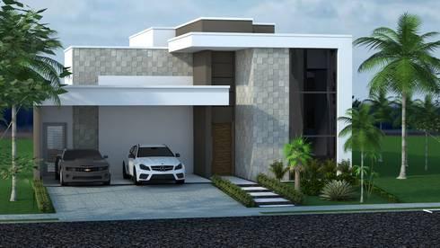 Fachadas por construtora lima projetos homify for Fachadas de casas modernas em belo horizonte