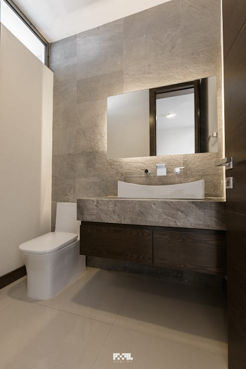 Virreyes 15: Baños de estilo  por 2M Arquitectura