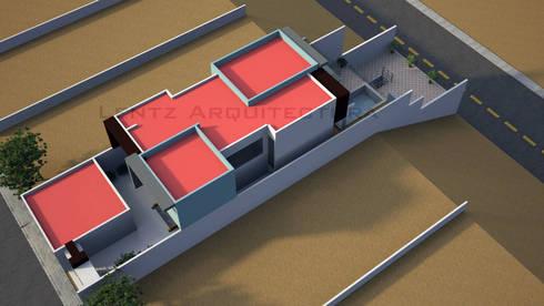 Vista Aerea: Casas de estilo moderno por Lentz Arquitectura Diseño y Construcción
