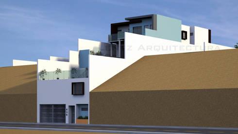 Fachada Lateral 2.1: Casas de estilo moderno por Lentz Arquitectura Diseño y Construcción