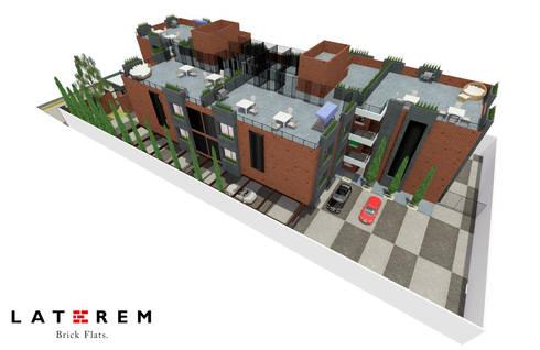 Roof Gardens y Areas de tendido y guardado: Terrazas de estilo  por Del Castillo Arquitectos