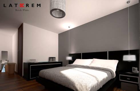 MASTER BEDROOM: Recámaras de estilo moderno por Del Castillo Arquitectos