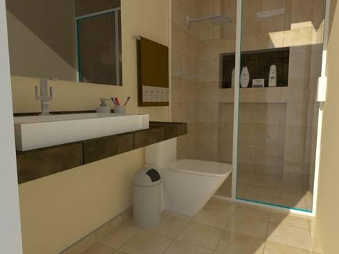 REMODELACIÓN CASA-HABITACIÓN: Baños de estilo  por MVarquitectos