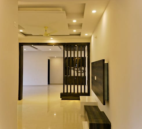 GSP Interiors : modern Media room by Space Collage