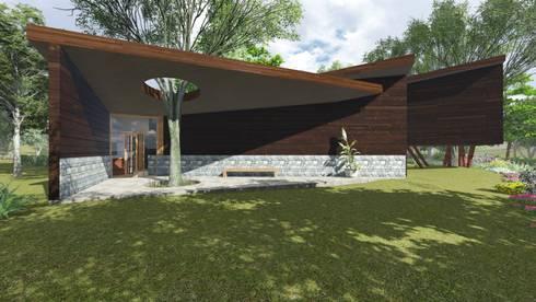 VISTA LATERAL:  de estilo  por GerSS Arquitectos