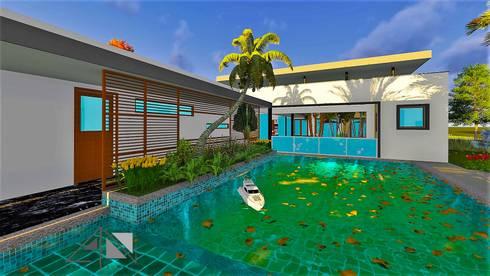 piscina:  de estilo  por ARQUITECTOnico