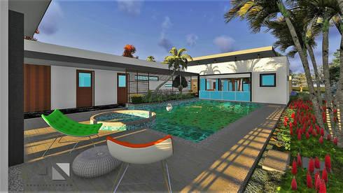piscina jacuzzi:  de estilo  por ARQUITECTOnico