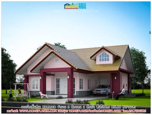 แบบบ้านชั้นเดียว HPM126B:   by แบบแปลนบ้านสำเร็จรูป