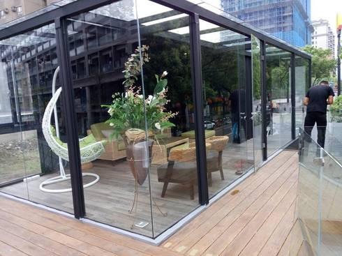 貨櫃咖啡屋:  辦公室&店面 by 貨櫃屋設計狂人