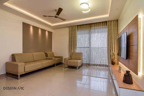 Apartment interior design bangalore 4bhk by design arc for Living room designs bangalore