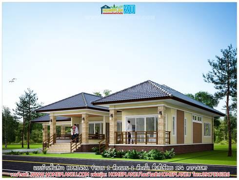 แบบบ้านชั้นเดียว HPM145A:   by แบบแปลนบ้านสำเร็จรูป