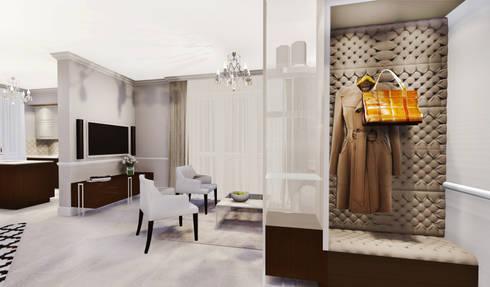 apartment: eclectic Living room by KOKON zespół architektoniczny
