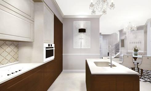 apartment: eclectic Kitchen by KOKON zespół architektoniczny