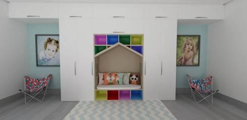 modern Nursery/kid's room by TAMEN arquitectura