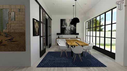 modern Dining room by TAMEN arquitectura