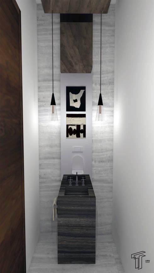 modern Bathroom by TAMEN arquitectura