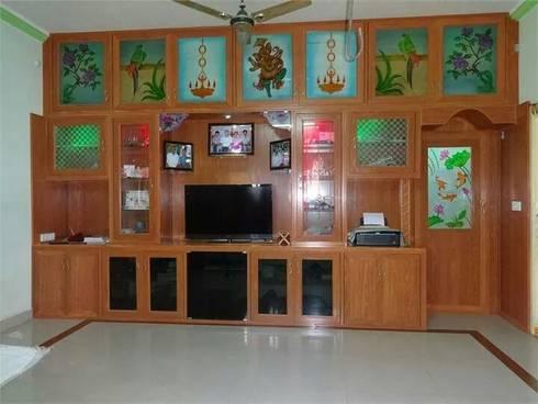 balabharathi pvc tv showcase design in hosur and dharumapuri: modern Kitchen by balabharathi pvc interior design