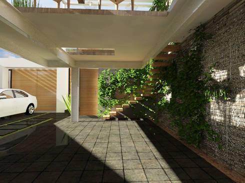 Cochera: Garajes de estilo moderno por Arqternativa