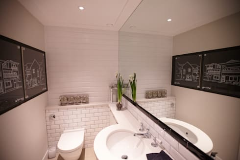 Modern colonial London home: colonial Bathroom by Kim H Interior Design