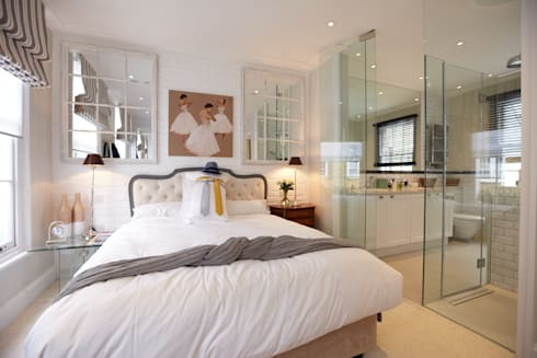 Modern colonial London home: colonial Bedroom by Kim H Interior Design
