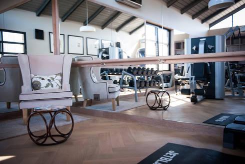Upmarket home in Johannesburg: eclectic Gym by Kim H Interior Design