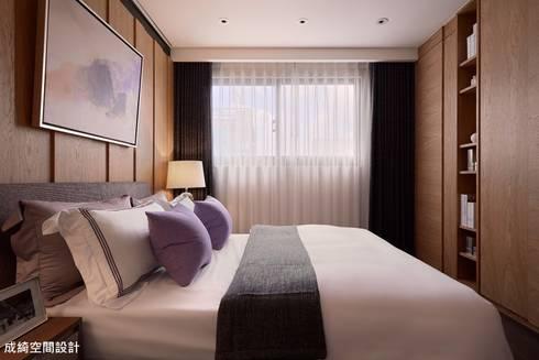 嚴公館:  臥室 by 成綺空間設計