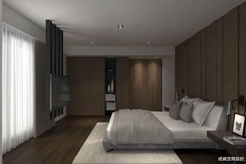王公館:  臥室 by 成綺空間設計