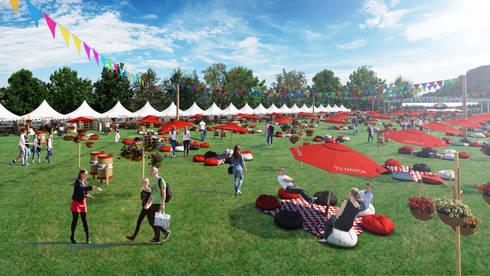 Feria de Diseño Gipsy Market: Jardines de estilo rural por Arquitectura y Diseño Digital