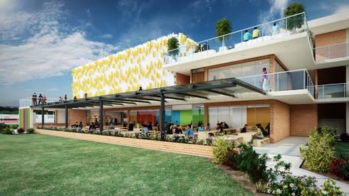 Colegio – Bogotá: Pasillos y vestíbulos de estilo  por Arquitectura y Diseño Digital